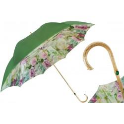 Parasol Pasotti Green and Pink Roses, podwójny materiał, 189 5D934-1 P5