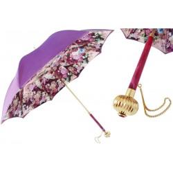 Parasol Pasotti Purple Flowers, podwójny materiał, 189 5D522-4 U14PF