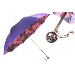 Parasol Pasotti Purple With Roses Printed Interior, podwójny materiał, 189 56896-1 U16