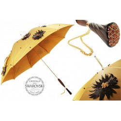 Parasol Pasotti Umbrella with Hand Applied Sunflowers and Swarovski Handle, podwójny materiał, 332 Sum-7 Z3