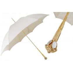 Parasol Pasotti Very Elegant Ecru White, podwójny materiał, 386 Serge-65 E11