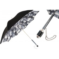 Parasol Pasotti Black and White Animalier, podwójny materiał, 189N Tiger Patch 6 S11