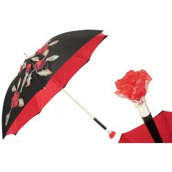 Parasol Pasotti Spanish-Feel with Red Roses Applications, podwójny materiał, 343N Plat-26 Plat-34 W17